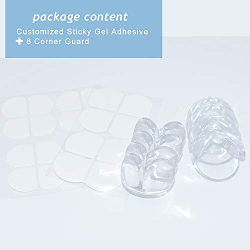 Corner Protector Baby Proofing Corner Guards - 8 Pack, Clear for Tables, Furniture, Sharp Corner, Baby Safety by Slicemall by Slicemall (Image #6)