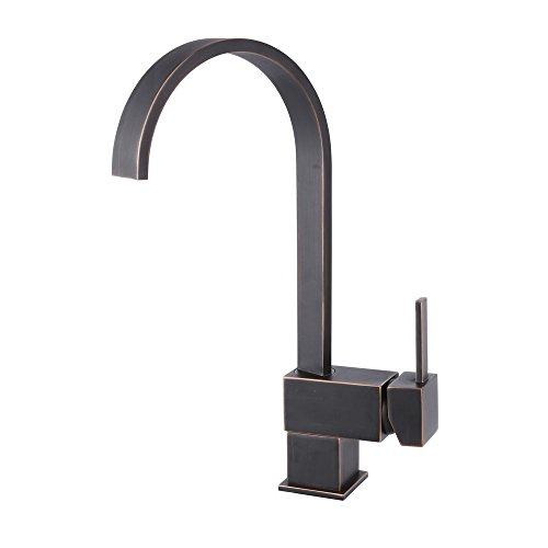 Fantastic Deal! Yodel Modern Kitchen / Wet Bar Sink Faucet, Oil Rubbed Bronze