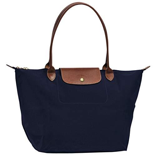 Large Le Bleu Bag Navy Longchamp Tote Sac 556 Pliage E4YwxdCdq