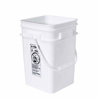Square high-density polyethylene pail, 4-1/4 gallon