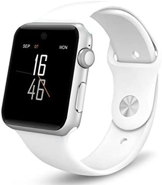⌚ LEMFO LF07 Bluetooth Smart Watch SmartWatch for Apple iPhone iOS Android Smartphones Looks Like Apple Watch Reloj Inteligente (White Silver)