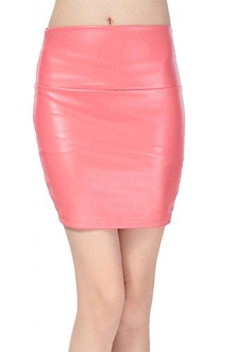 Lotus Instyle Faux cuir Mini Jupe Dame Short en cuir Rouge