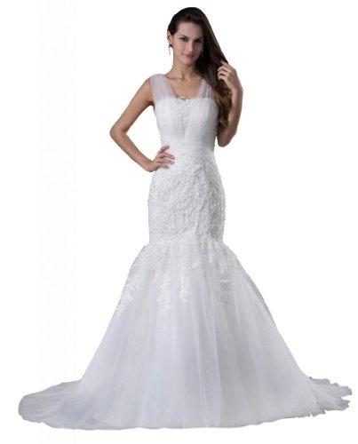 Orifashion - Vestido de novia - Sin mangas - Mujer