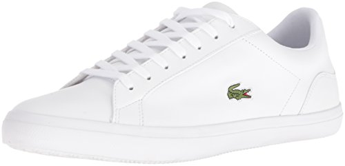 Lacoste Men's Lerond BL 1-1 Fashion Sneaker, White, 9.5 M US