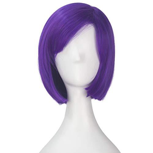Miss U Hair Girl Short Straight Circus Light Purple Hair Cosplay Costume Wig -