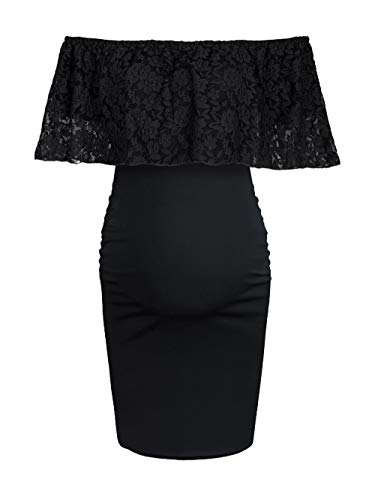 lace detail ruched dress - 1