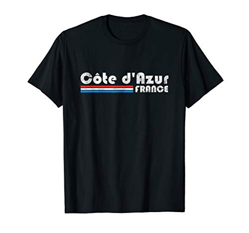 Cote d'Azur France Retro Vintage Travel Vacation Gift T-Shirt