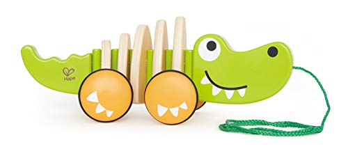 (Hape Walk-A-Long Croc Toddler Wooden Pull Along Toy)