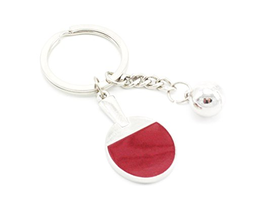 Tennis Racket Key Chain (Red) - 5