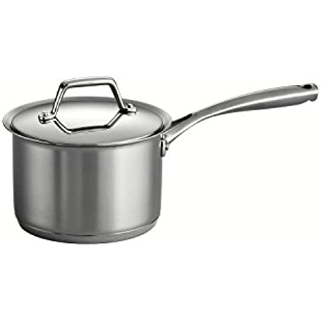 Tramontina Gourmet Prima 18 10 Stainless Steel Tri Ply Base Covered Sauce Pan 2 Quart