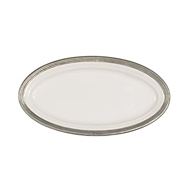 Arte Italica Tuscan Oval Platter, Medium, White