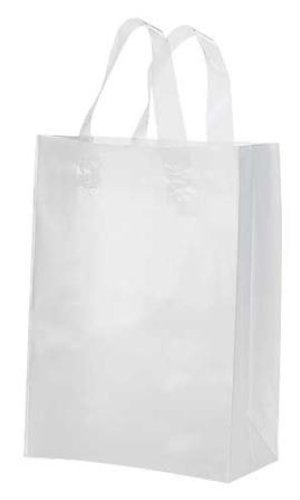 Amazon.com: Lot of 10 Medium Clear Plastic Frosted Shopping Gift ...