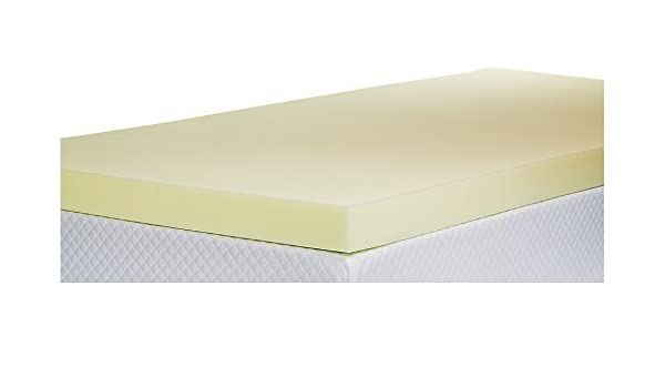 Southern Foam Innaliving - Sobrecolchón de matrimonio de espuma con efecto memoria, poliuretano, Amarillo, 3