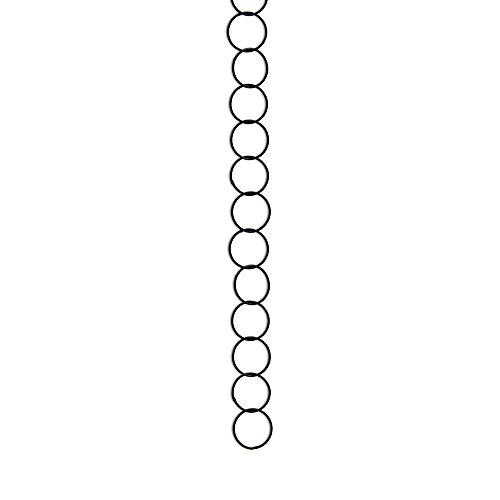 RCH Hardware CH-41S-OBB Round 1 Inch Diameter, Using 17swg Wire, Solid Brass Chain (Oil Bronzed Black) ()