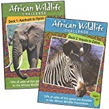 Wildlife Combo - Word Teasers African Wildlife Challenge Card Game Combo (Set of 2 decks) for Families, Family Game Night