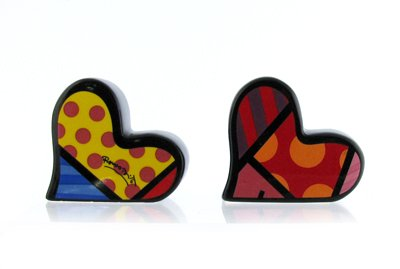 (Romero Britto: 2 Hearts Salt & Pepper Set Romero)