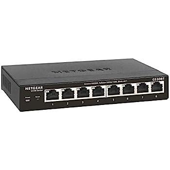 NETGEAR 8-Port Gigabit Ethernet Smart Managed Pro Switch (GS308T) - Desktop, Fanless Housing for Quiet Operation, S350 Series