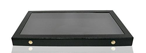 New Display Jewelry Acrylic Showcase (Novel Box® Snap-Close Acrylic Lid Black Jewelry Display Case 14.75X8.25X1.15