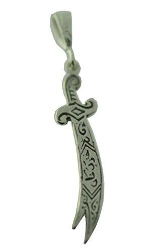 Islam Sword of Ali Muslim Sterling Silver 925 Allah Zulfiqar Charm slamic New