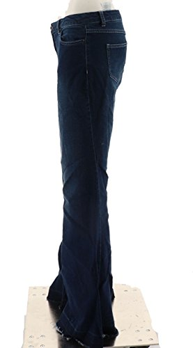 Peace Love World Flare Denim Pants A294419, Med Wash, 2 by Peace Love World (Image #2)'