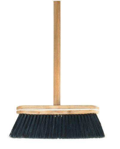 Superio Wooden Tampico Broom, Black