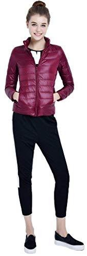 Con 88 Coreana Especial Giacca Collo Outwear Manica Donna Winered Qualità Leggero Laterali Invernali Alta Bobo Caldo Trapuntata Tasche Cerniera Lunga Piumino Monocromo Estilo Di z64nqdwxad