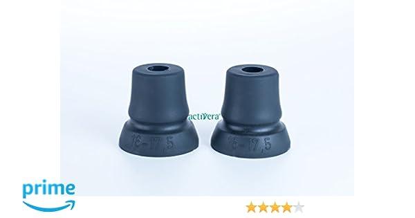 Juego de 2 Binadora Cápsula Andador Soporte con gran superficie, ideal para muletas para tubos con D=16 – 17,5 mm