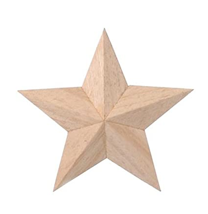 Darice 9191 50 Wood 3d Star 4 Inch