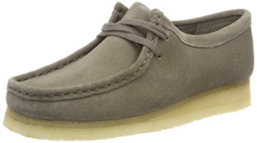 Donna grey Suede Scarpe Grigio Derby Stringate Clarks Wallabee Originals AqHaff