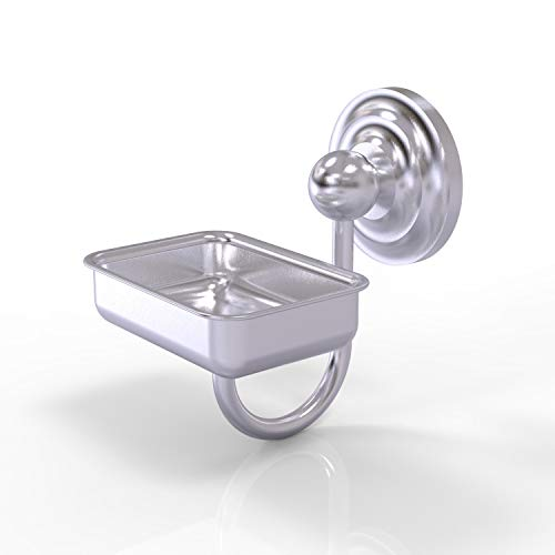 Allied Brass PQN-WG2 Prestige Que New Collection Wall Mounted Soap Dish, Satin Chrome