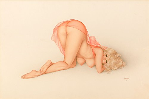 Berkin Arts Alberto Vargas Giclee Canvas Print Paintings Poster Reproduction(Pin Up Girls 54)
