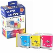 Brother Lc51bk Inkjet - Brother Genuine Brand Name, OEM LC513PKS (LC-513PKS) Rainbow Inkjet Pack LC-51C LC-51M LC-51Y for DCP-130C, IntelliFax 1860C, MFC-240C, MFC-440CN, MFC-665CW, MFC-3360C, MFC-5460CN, MFC-5860CN Printers