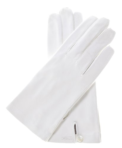 Fratelli Orsini Women's Italian Silk Lined White Leather Wedding Gloves Size 8 Color White by Fratelli Orsini