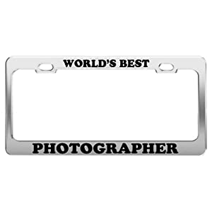 WORLD'S BEST PHOTOGRAPHER License Plate Frame Tag Car Truck Accessory Gift