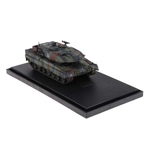 B Blesiya 1:72 German Leopard 2 A5 Main Battle Tank Artillery Model Army Crawler Vehicle Toy Collectibles Playset Home Decor ()