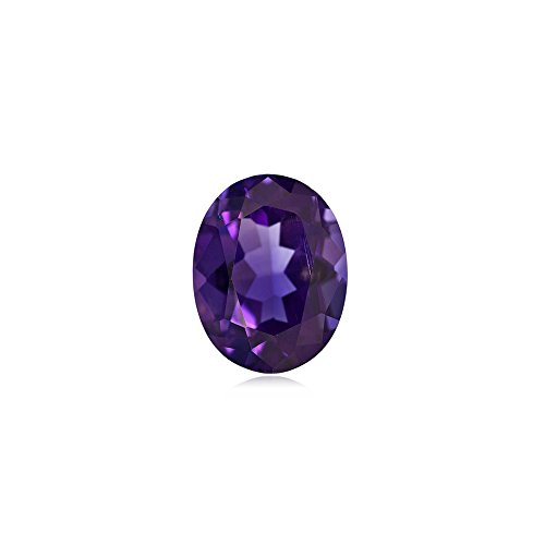 0.95-1.25 Cts of AAA 8x6 mm Oval Amethyst ( 1 pc ) Loose Gemstone