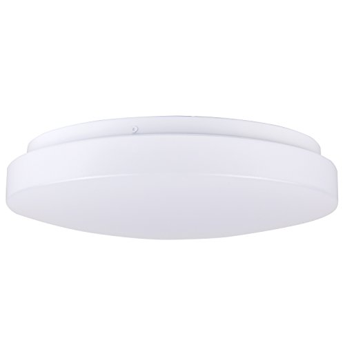 Hykolity 14 Inch Dimmable LED Flush Mount White Round Ceiling Light Fixture, 25W (160W Equivalent), 1800 lumens, 4000K Neutral White, 120v for Kitchens, Stairwells, Closet, Washroom, Laundry Rooms (Ceiling Fixture Round)