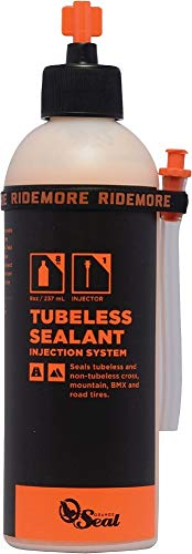 (Orange Seal Cycling Tubeless Tire Sealant with Injection System, 8 oz)