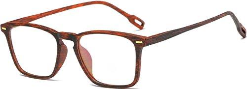 4b37eba73a49 J&L Glasses Vintage Classic Full Frame Wood Grain Unisex Glasses Frame