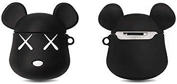 YXIAOn YNuo AirPods Estuche para audífonos inalámbricos de silicona violeta con dibujos animados 1/2 Generación Auriculares con Bluetooth de Apple Funda protectora Cubierta para audífonos Personalidad: Amazon.es: Electrónica