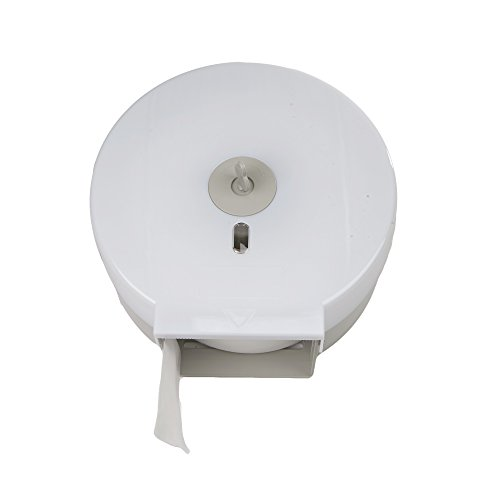 (Mind Reader Commercial Bathroom Tissue Dispenser, Wall Mount Tissue Holder for Professional Bathroom 10.25 in. L x 4.88 in. W x 10.5 in. H)