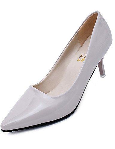 GGX/ Damenschuhe-High Heels-Hochzeit / Outddor / Büro / Kleid / Lässig / Party & Festivität-PU-Stöckelabsatz-Absätze-Schwarz / Grün / Rosa / gray-us6.5-7 / eu37 / uk4.5-5 / cn37