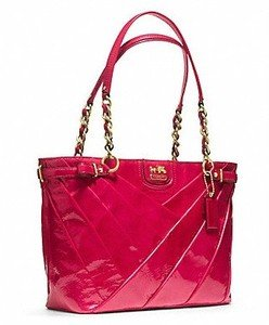 Coach Pink Patent Leather Bag - 8