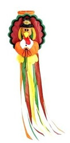 Turkey Windsock Thanksgiving Large 50'' Long Cute & Colorful