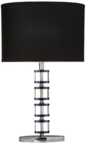 SH Lighting 31157 Chrome Table Lamp with 4 Adjustable Crystal Center Pieces, 24