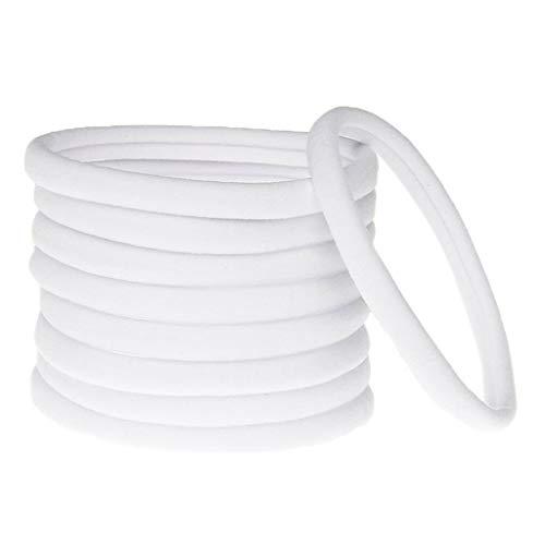 5pcs Baby Girl Women Hair Band Ties Rope Ring Elastic Hairband Ponytail Holder (Color - White)