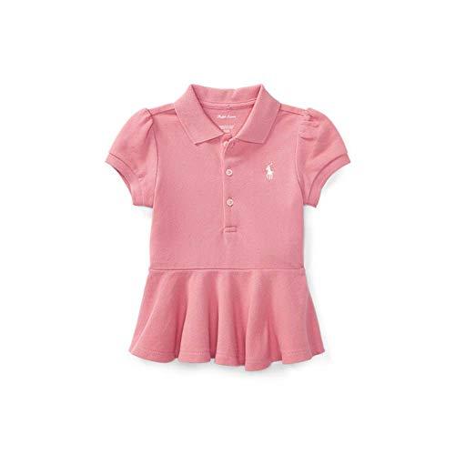 Polo Ralph Lauren Baby Girl's Short Sleeve Pelpum Mesh T-Shirts, 24 Months, Rugby Pink