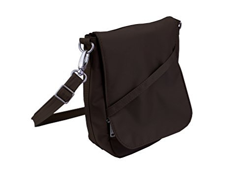 Be Safe Bags Anti-Theft RFID Slim Profile Crossbody Messenger U-Shape Travel Hand Bag and Purse – Detachable Strap