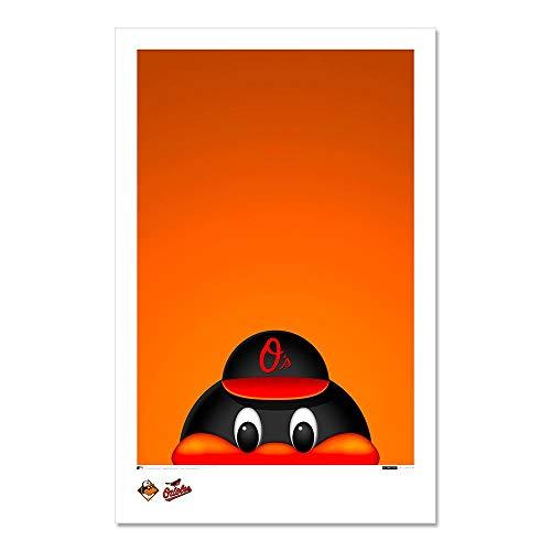 (The Oriole Bird - Baltimore Orioles - Minimalist Mascot Art Poster Print (11X17 Inches))