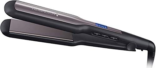 Remington Pro Ceramic Extra S5525 - Plancha de Pelo, Cerámica Avanzada, Digital, Placas Flotantes, Negro y Morado